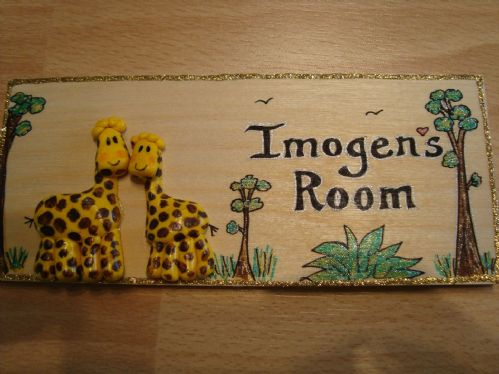 3d Giraffe Children's Bedroom Playroom Wendy House Play House  Treehouse Sign Unique Handmade Personalised